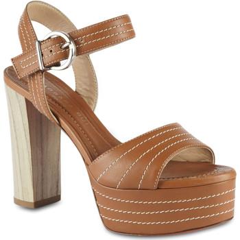 Scarpe Donna Sandali Barbara Bui sandali con tacco alto e plateau da donna in pel marrone