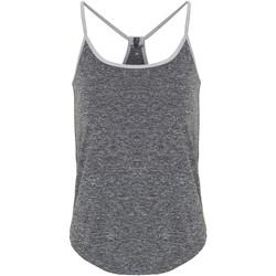 Abbigliamento Donna Top / T-shirt senza maniche Tridri TR043 Nero/Argento