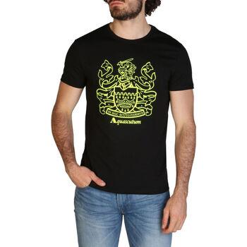 Abbigliamento Uomo T-shirt maniche corte Aquascutum - qmt019m0 Nero