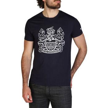 Abbigliamento Uomo T-shirt maniche corte Aquascutum - qmt002m0 Blu