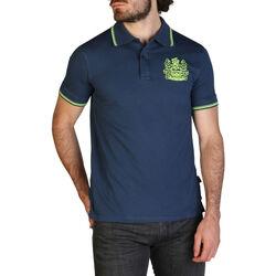 Abbigliamento Uomo Polo maniche corte Aquascutum - qmp025 Blu
