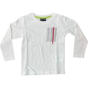 Abbigliamento Unisex bambino T-shirts a maniche lunghe Brums ATRMPN-28539 Bianco
