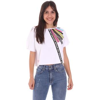 Abbigliamento Donna T-shirt maniche corte Ea7 Emporio Armani 3KTT40 TJ39Z Bianco