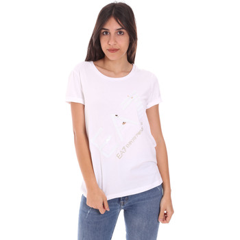 Abbigliamento Donna T-shirt maniche corte Ea7 Emporio Armani 3KTT28 TJ12Z Bianco