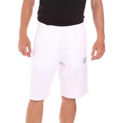 Abbigliamento Uomo Costume / Bermuda da spiaggia Ea7 Emporio Armani 3KPS59 PJ05Z Bianco