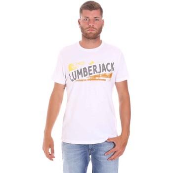 Abbigliamento Uomo T-shirt maniche corte Lumberjack CM60343 026EU Bianco