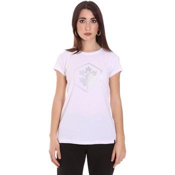 Abbigliamento Donna T-shirt maniche corte Lumberjack CW60343 015EU Bianco