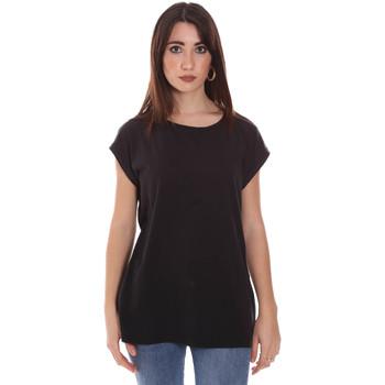 Abbigliamento Donna T-shirt maniche corte Lumberjack CW60343 011EU Nero