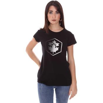 Abbigliamento Donna T-shirt maniche corte Lumberjack CW60343 015EU Nero