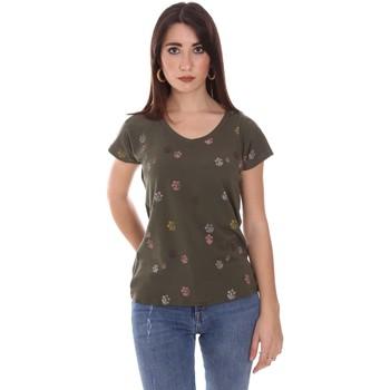 Abbigliamento Donna T-shirt maniche corte Lumberjack CW60343 013EU Verde