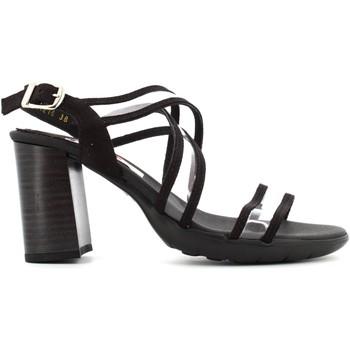 Scarpe Donna Sandali CallagHan sandalo donna con tacco 21216 NERO Pelle