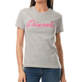 Abbigliamento Donna T-shirt maniche corte Diesel 00SL2T-0RCZJ Grigio