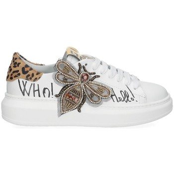 Scarpe Donna Sneakers basse Gio + + ape pelle bianca BIANCO