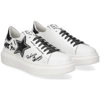 Scarpe Donna Sneakers basse Gio + + G409A stella pelle bianca BIANCO