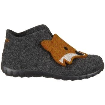 Scarpe Unisex bambino Pantofole Superfit Happy Lavagna Kombi Wollfilz