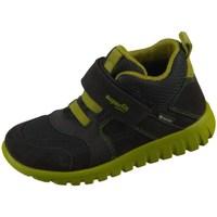 Scarpe Unisex bambino Sneakers alte Superfit SPORT7 Mini Nero, Olivina