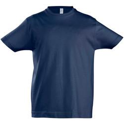 Abbigliamento Unisex bambino T-shirt maniche corte Sols 11770 Blu navy