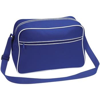 Borse Bambino Tracolle Bagbase BG14 Blu acceso/Bianco