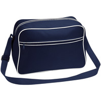 Borse Bambino Tracolle Bagbase BG14 Blu navy/Bianco