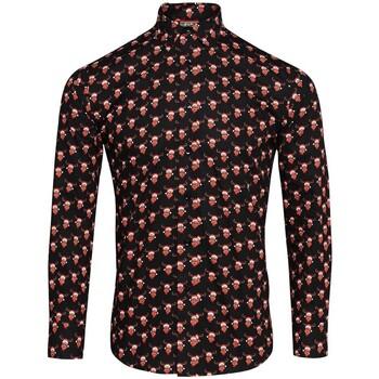 Abbigliamento Uomo Camicie maniche lunghe Christmas Shop CS001 Nero Renna