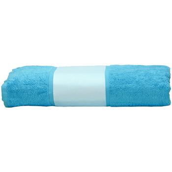 Casa Asciugamano e guanto esfoliante A&r Towels 50 cm x 100 cm Azzurro intenso