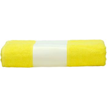 Casa Asciugamano e guanto esfoliante A&r Towels 50 cm x 100 cm Giallo brillante