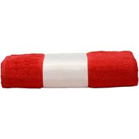 Casa Asciugamano e guanto esfoliante A&r Towels 50 cm x 100 cm Rosso fuoco