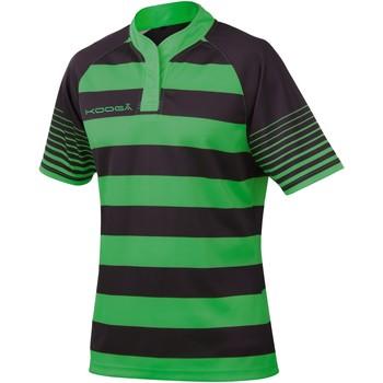 Abbigliamento Bambino T-shirt maniche corte Kooga K106B Nero/Smeraldo