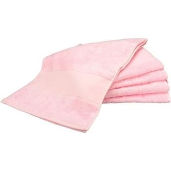 Casa Asciugamano e guanto esfoliante A&r Towels RW6038 Rosa chiaro