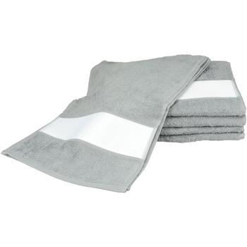 Casa Asciugamano e guanto esfoliante A&r Towels 30 cm x 140 cm Antracite