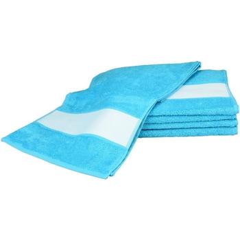 Casa Asciugamano e guanto esfoliante A&r Towels 30 cm x 140 cm Azzurro intenso