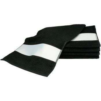Casa Asciugamano e guanto esfoliante A&r Towels 30 cm x 140 cm Nero