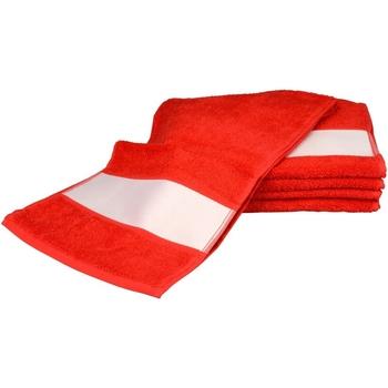 Casa Asciugamano e guanto esfoliante A&r Towels 30 cm x 140 cm Rosso fuoco