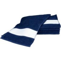 Casa Asciugamano e guanto esfoliante A&r Towels 30 cm x 140 cm Blu navy