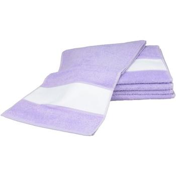 Casa Asciugamano e guanto esfoliante A&r Towels 30 cm x 140 cm RW6042 Viola chiaro