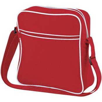 Borse Bambino Cartelle Bagbase BG16 Rosso/Bianco