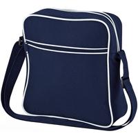 Borse Bambino Cartelle Bagbase BG16 Blu navy/Bianco