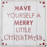 Casa Decorazioni natalizie Christmas Shop (40 x 40 cm) RW3841 Bianco/Rosso