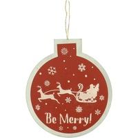 Casa Decorazioni natalizie Christmas Shop RW5077 Rosso/Be Merry