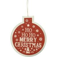 Casa Decorazioni natalizie Christmas Shop RW5077 Rosso/Ho Ho Ho