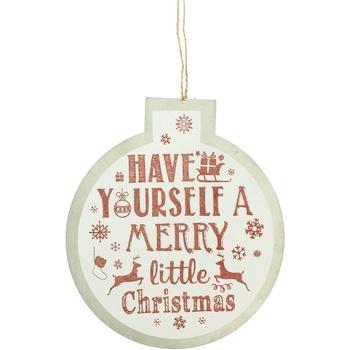 Casa Decorazioni natalizie Christmas Shop Taille unique Bianco/Merry