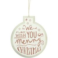 Casa Decorazioni natalizie Christmas Shop RW5077 Bianco/Wish