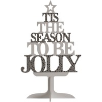 Casa Decorazioni natalizie Christmas Shop Taille unique Argentato/Bianco