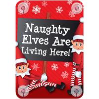 Casa Decorazioni natalizie Christmas Shop RW6420 Naughty elves are living here