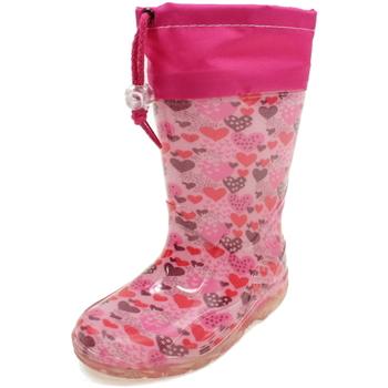 Scarpe Bambina Stivali da pioggia Diamantino GG500CR ROSA