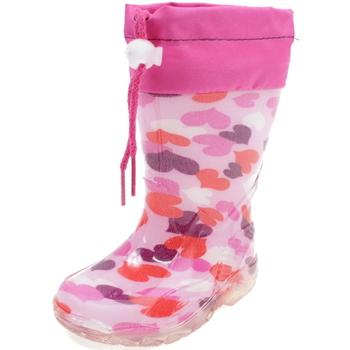 Scarpe Bambina Stivali da pioggia Diamantino GG500RC ROSA