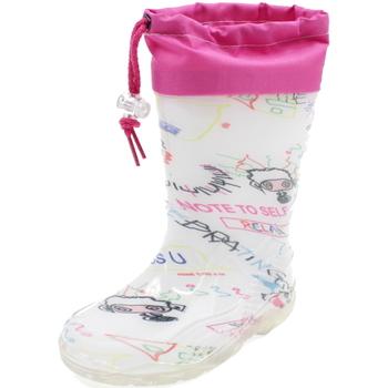 Scarpe Bambina Stivali da pioggia Diamantino GG500W BIANCO