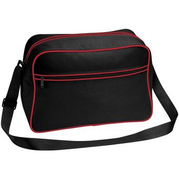 Borse Bambino Cartelle Bagbase BG14 Nero/Rosso