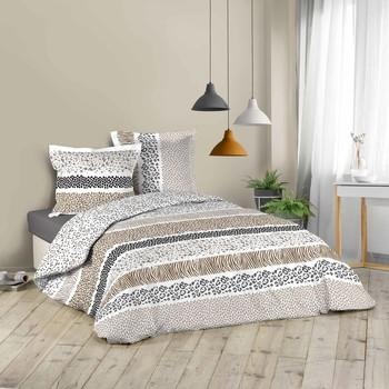 Casa Completo letto Douceur d intérieur ZIBRA Bianco