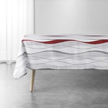 Casa Tovaglia Douceur d intérieur ONDULYS Bianco / Et / Rosso
